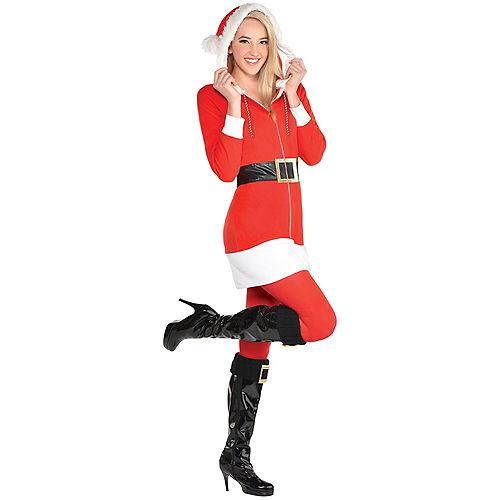 Adult Santa Zipster Costume Image #1