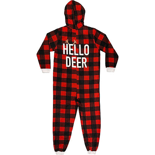 Adult Zipster Plaid One Piece Costume Image #2
