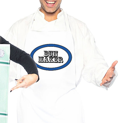 Adult Chef & Bun in the Oven Couples Maternity Costumes Image #3