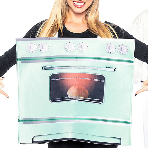 Adult Chef & Bun in the Oven Couples Maternity Costumes Image #4