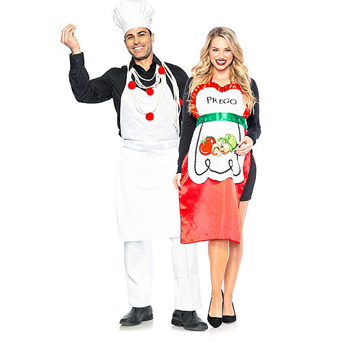 Adult Pasta Chef & Prego Couples Maternity Costumes Image #1