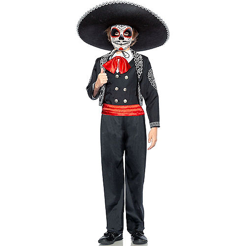 Child Traditional Day of the Dead Costume Image #1