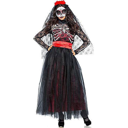 Adult Lacy Day of the Dead Costume Image #1