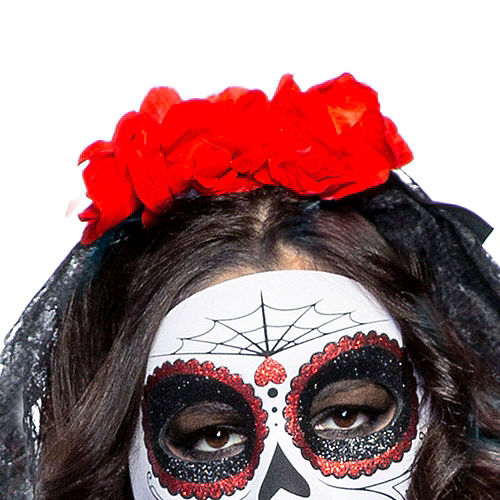 Adult Lacy Day of the Dead Costume Image #2