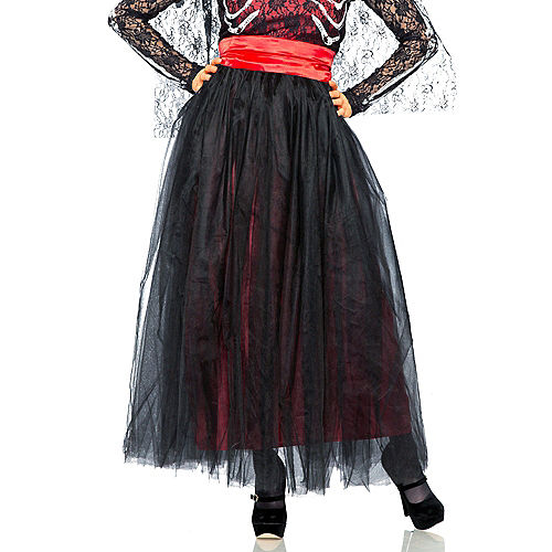 Adult Lacy Day of the Dead Costume Image #5