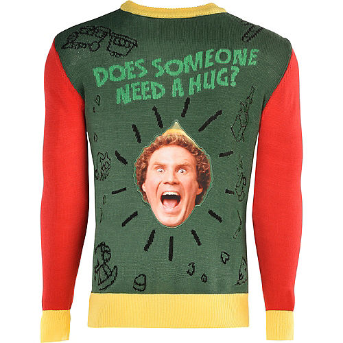 Adult Does Someone Need A Hug? Ugly Christmas Sweater - Elf Image #1