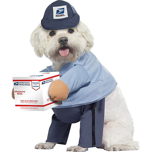 US Mail Carrier Dog Costume Image #1