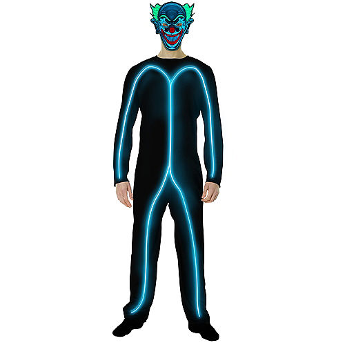 Adult Light-Up Blue Stick Man Costume Image #2