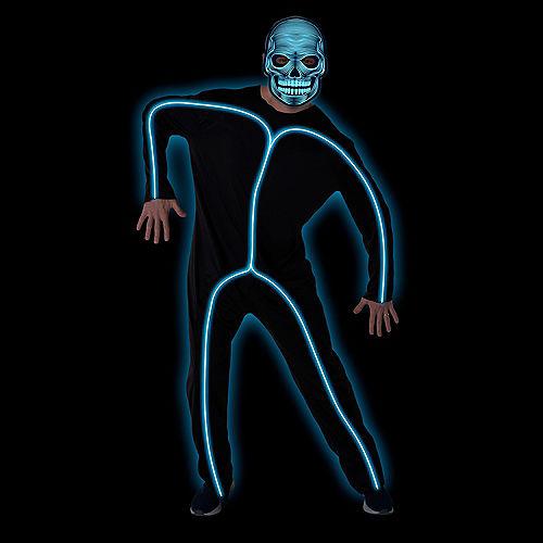 Adult Light-Up Blue Stick Man Costume Image #3