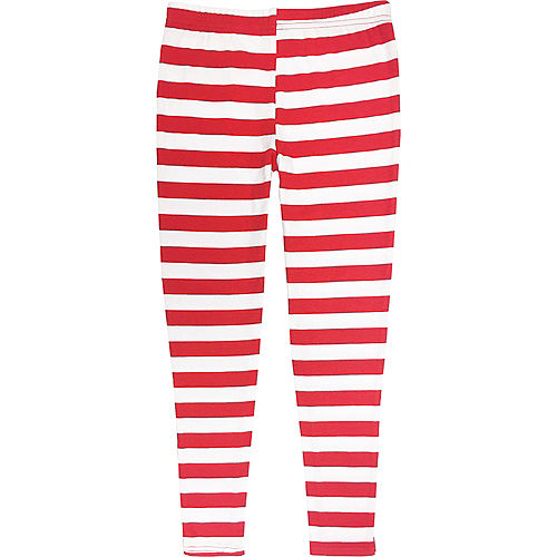 Child Striped Cat in The Hat Leggings - Dr. Seuss Image #2