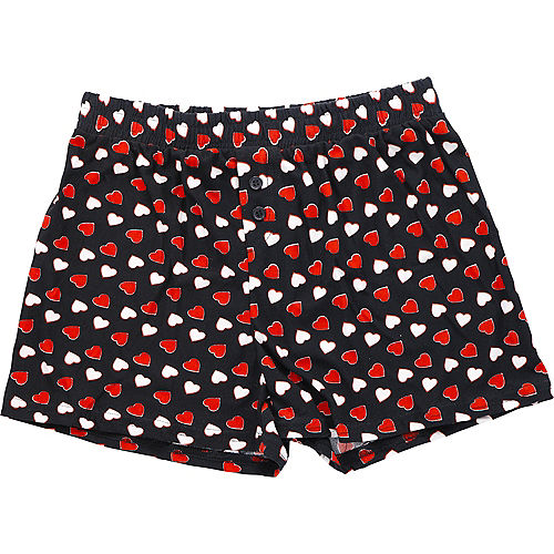 Adult Valentine's Day Heart Boxer Shorts Image #1