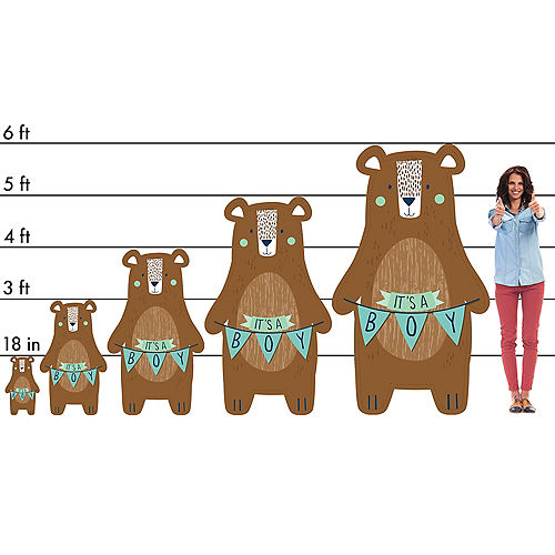 Can Bearly Wait Cardboard Cutout, 3ft Image #2