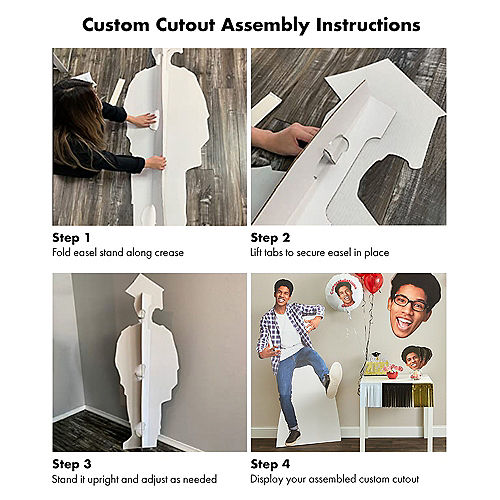 Custom School Spirit Cardboard Cutout, 3ft Image #3