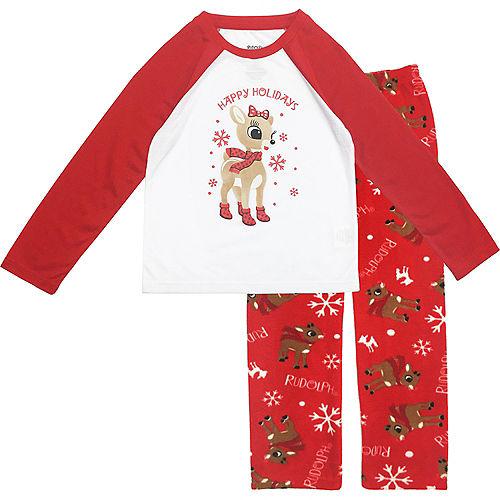 Girl's Rudy Christmas Pajamas Image #1