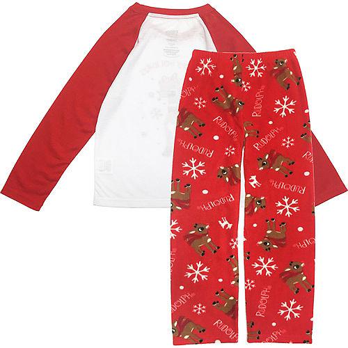 Girl's Rudy Christmas Pajamas Image #2