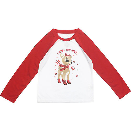 Girl's Rudy Christmas Pajamas Image #3