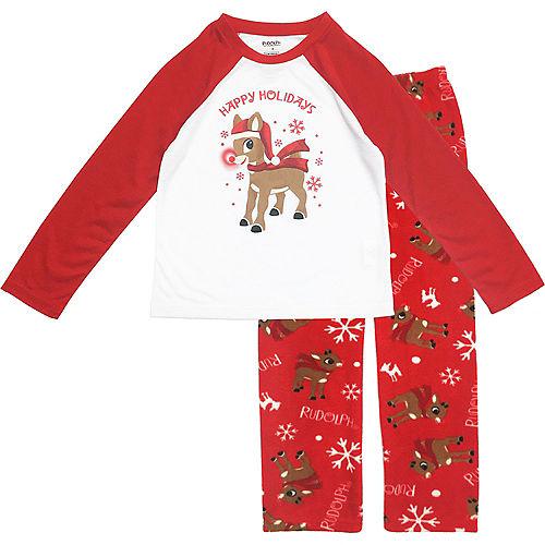 Boy's Rudy Christmas Pajamas Image #1