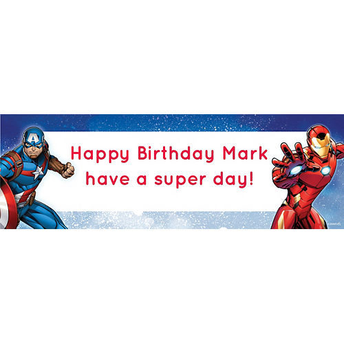 Custom Avengers Horizontal Banner Image #1