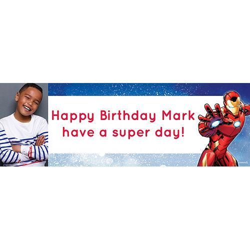 Custom Avengers Photo Horizontal Banner Image #1