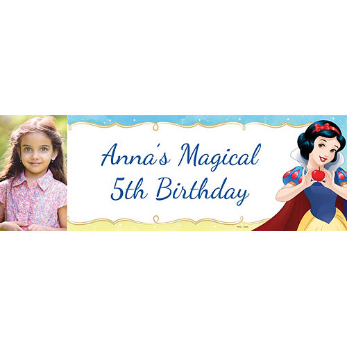 Custom Snow White Once Upon a Time Photo Horizontal Banner Image #1