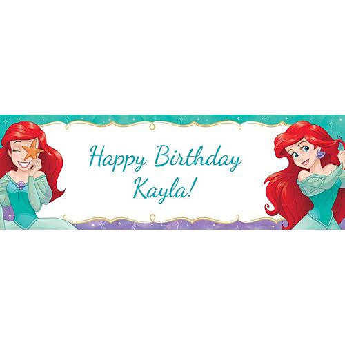 Custom The Little Mermaid Ariel Dream Big Horizontal Banner Image #1