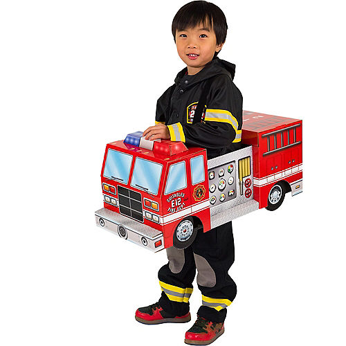 Child Fire Truck Ride-On Costume with Sound Effect Image #1