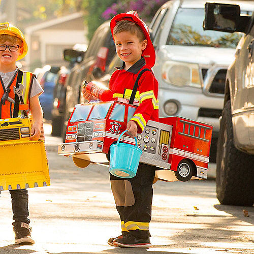 Child Fire Truck Ride-On Costume with Sound Effect Image #4
