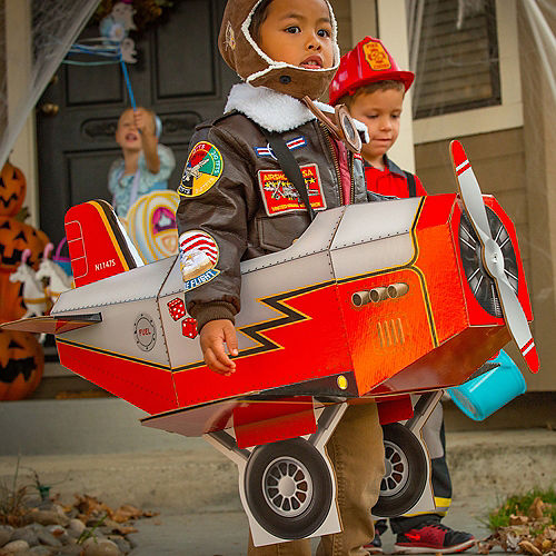 Child Airplane Ride-On Costume with Sound Effect Image #2
