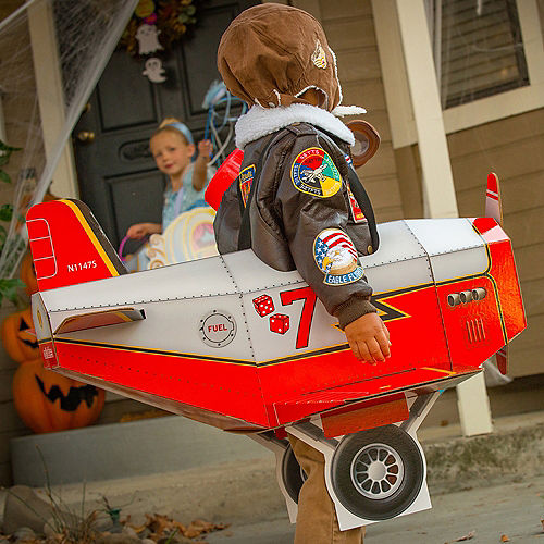 Child Airplane Ride-On Costume with Sound Effect Image #3