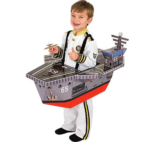 Child Battleship Ride-On Costume with Sound Effect Image #1