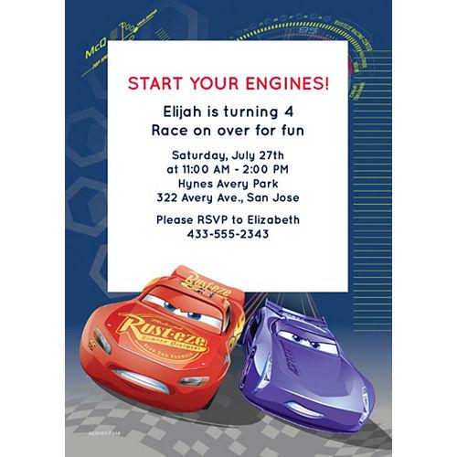 Custom Cars 3 Invitations Image #1