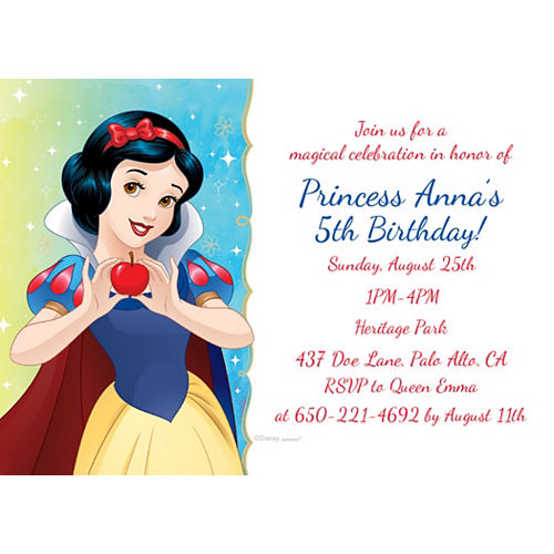 Custom Snow White Once Upon a Time Invitations Image #1