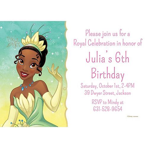 Custom The Princess and the Frog Tiana Invitations Image #1