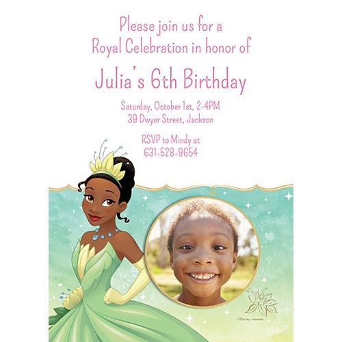 Custom The Princess and the Frog Tiana Photo Invitations Image #1
