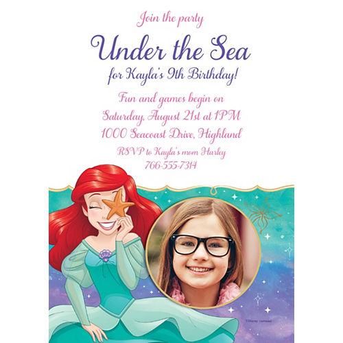 Custom The Little Mermaid Ariel Dream Big Photo Invitations Image #1