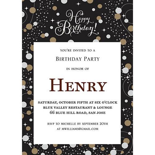 Custom Sparkling Celebration Invitations Image #1