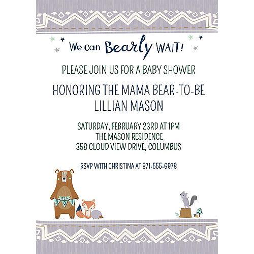 Custom Can Bearly Wait Invitations Image #1