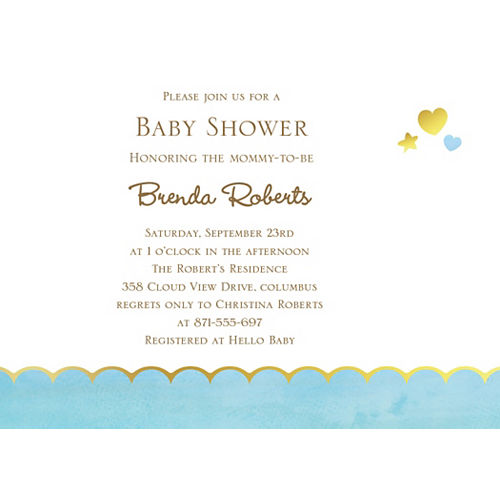 Custom Oh Baby Boy Invitations Image #1