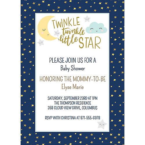 Custom Twinkle Twinkle Little Star Invitations Image #1