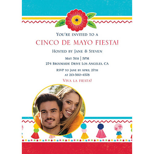Custom Fiesta Time Photo Invitations Image #1