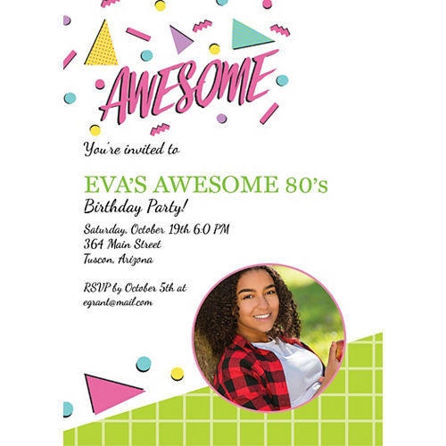 Custom Awesome Party Photo Invitations Image #1