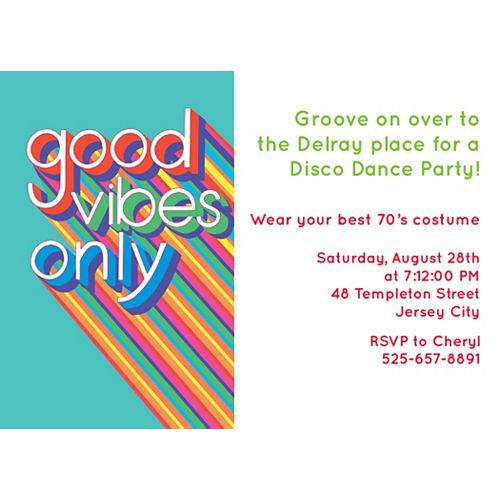 Custom Disco Fever Invitations Image #1