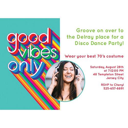 Custom Disco Fever Photo Invitations Image #1
