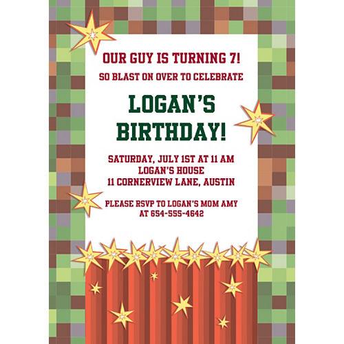Custom Pixelated Invitations Image #1