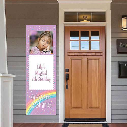 Custom Magical Rainbow Birthday Photo Vertical Banner Image #1