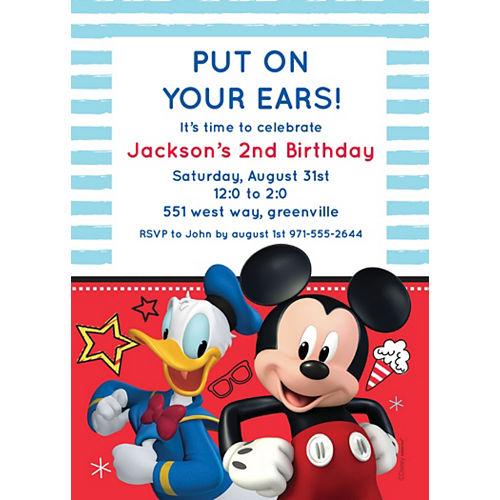 Custom Mickey on the Go Invitations Image #1