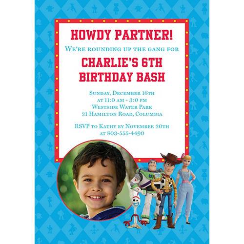 Custom Toy Story 4 Photo Invitations Image #1