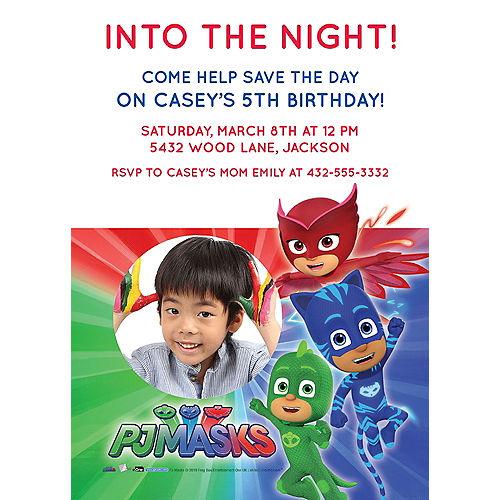 Custom PJ Masks Photo Invitations Image #1