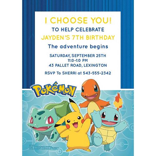 Custom Pokémon Classic Invitations Image #1