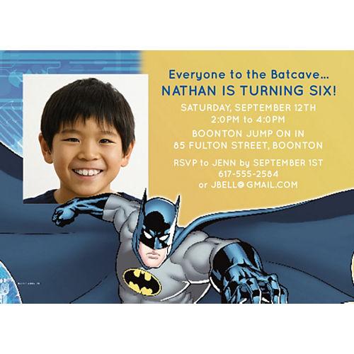 Custom Batman Photo Invitations Image #1